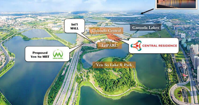 vị trí dự án central residence gamuda