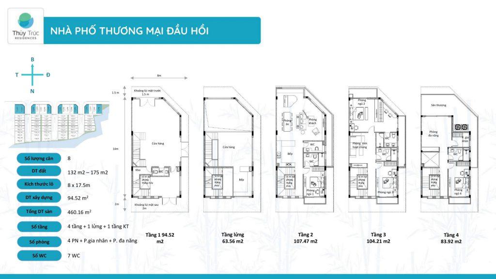 thiết kế shophouse thủy trúc residences
