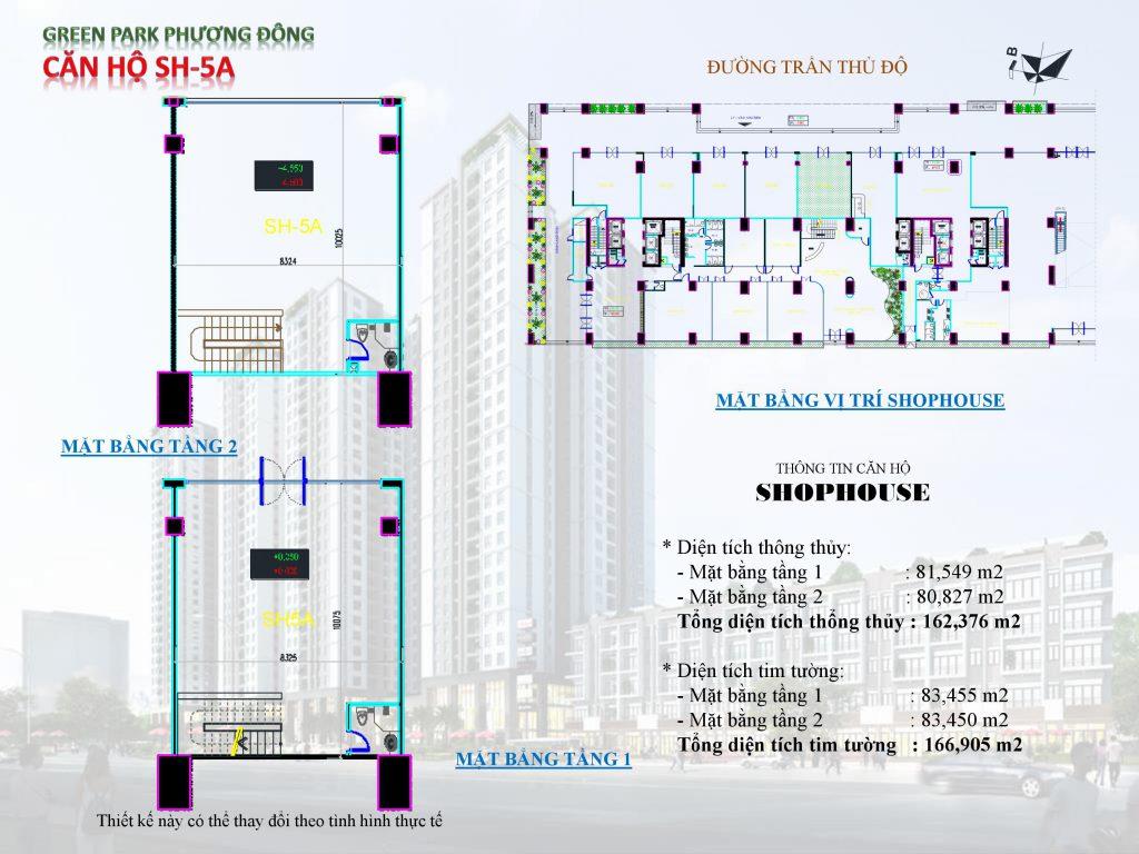 thiết kế kiot shophouse 5
