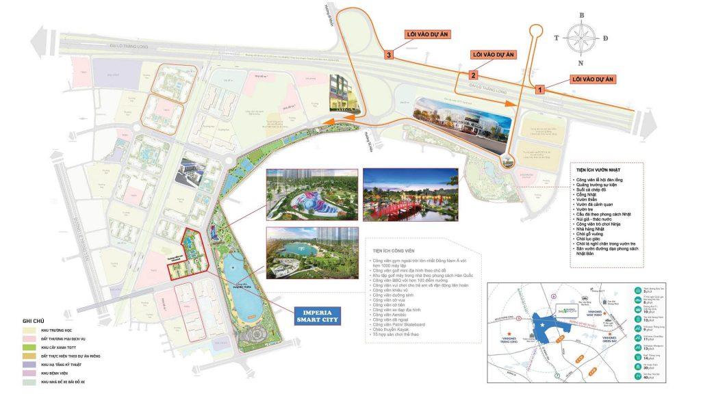 vị trí dự án imperia smart city