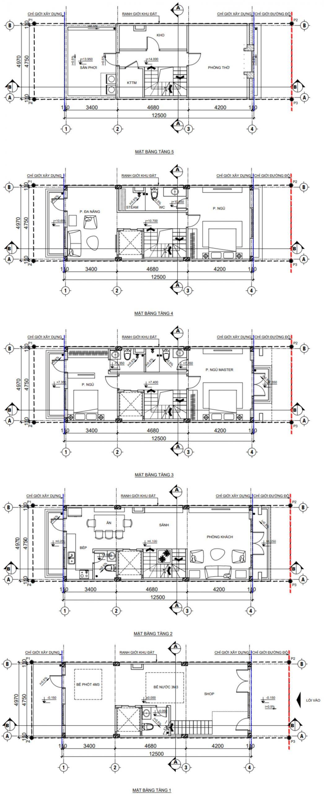 mặt bằng thiết kế tnr grand palace cao bằng