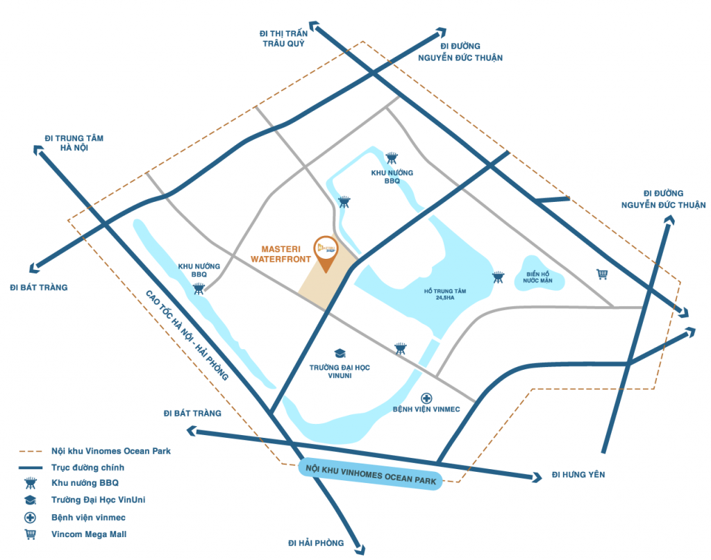 liên kết vùng masteri waterfront ocean park