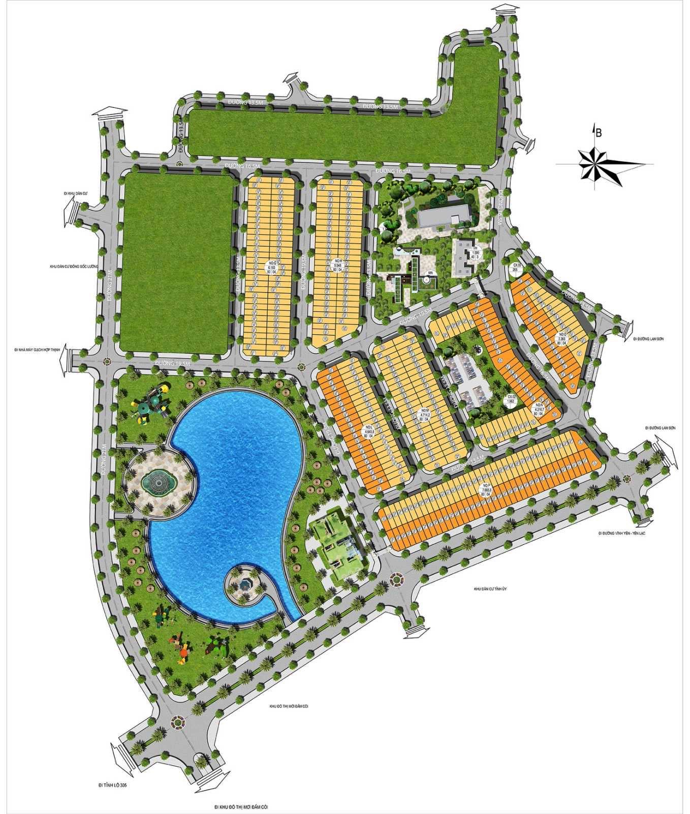 Mặt bằng dự án Vĩnh Yên Center City - Vĩnh Phúc