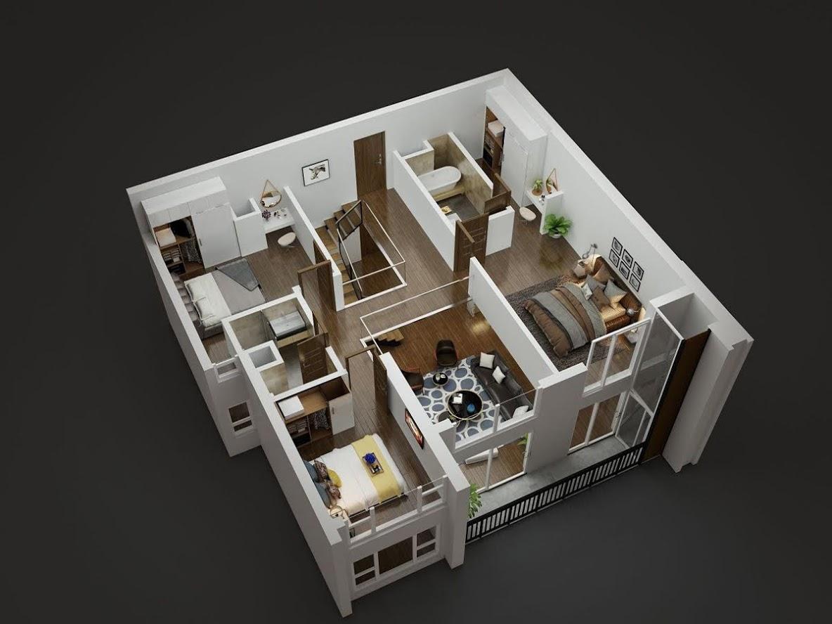 tầng 2 căn duplex diamond goldmark city