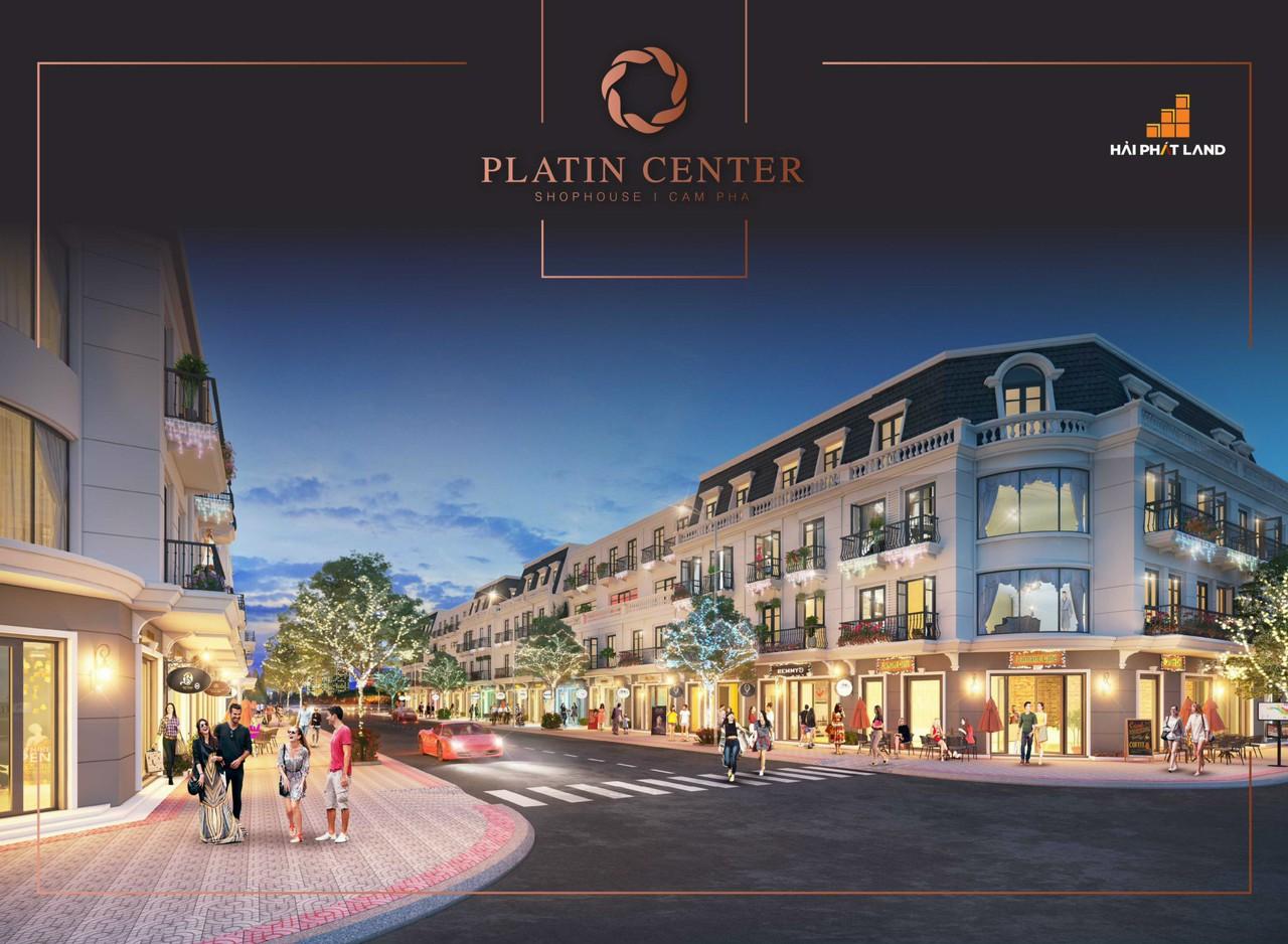 thiết kế nhà phố platin center shophouse cẩm phả