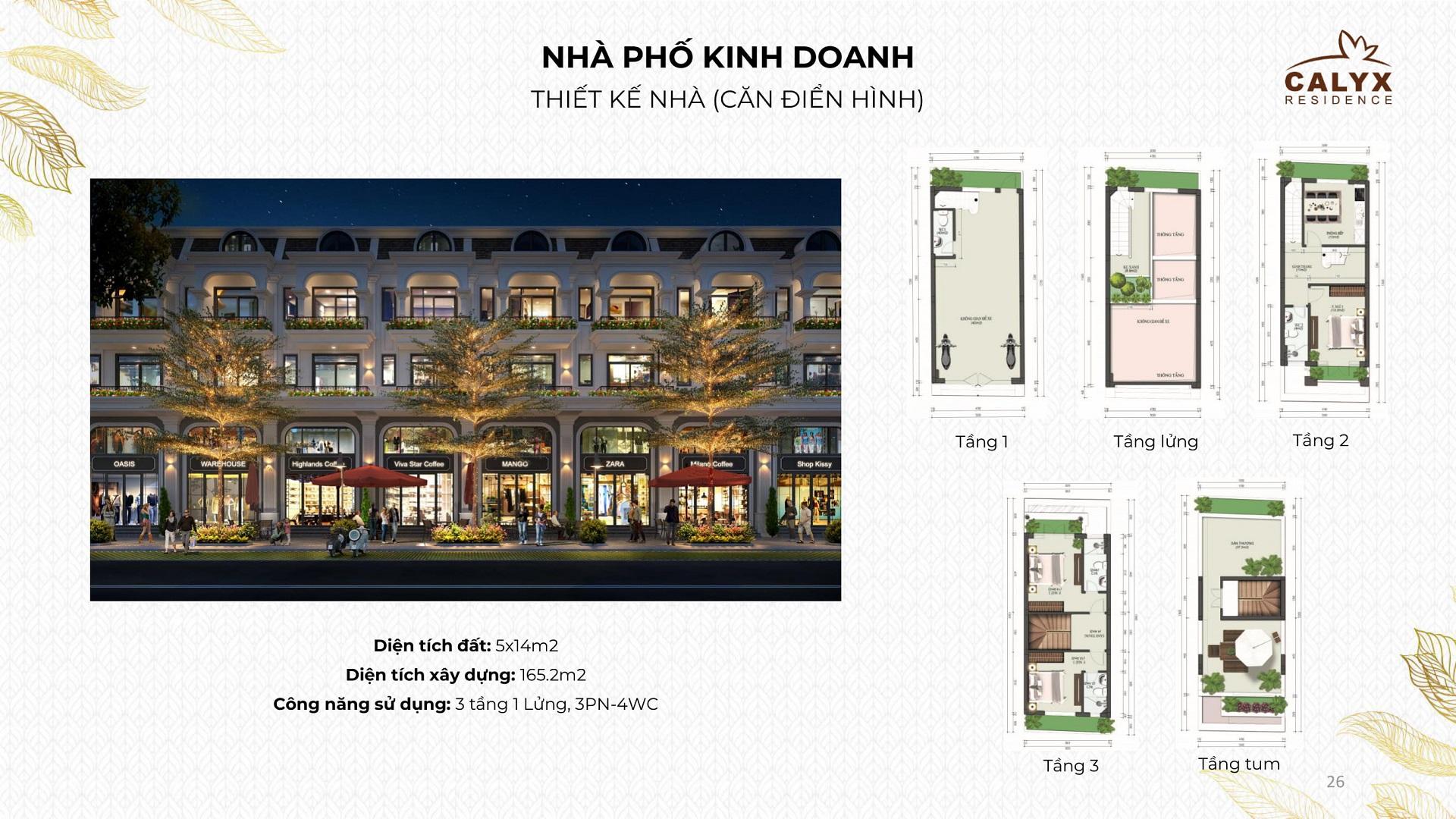 shophouse dự án calyx residence