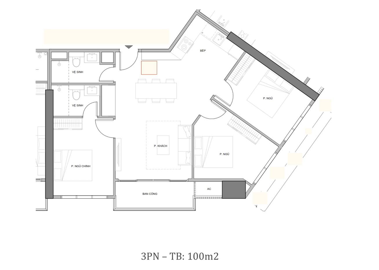 thiết kế căn hộ sun grand marina town 3