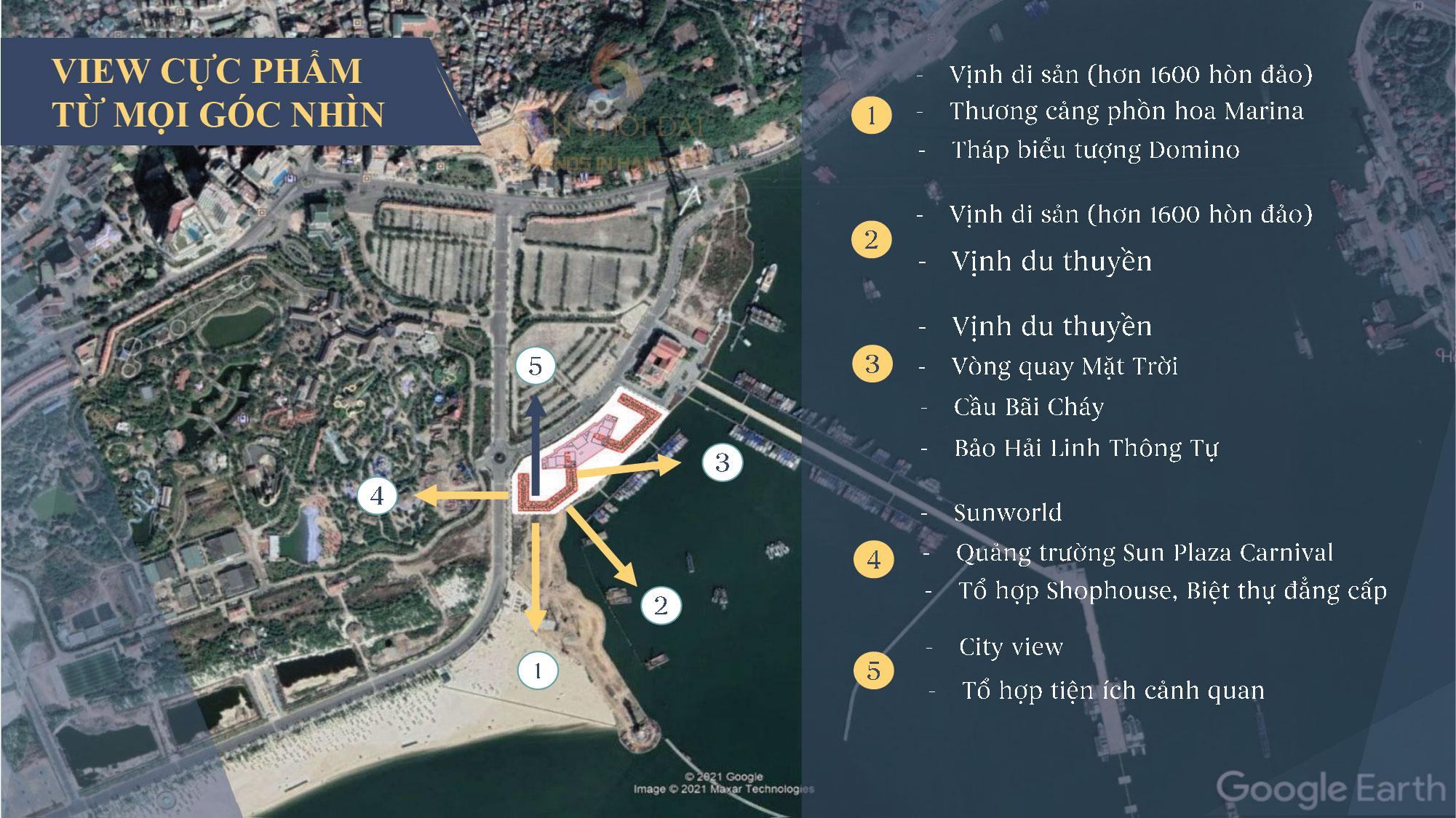 vị trí dự án sun grand marina town hạ long