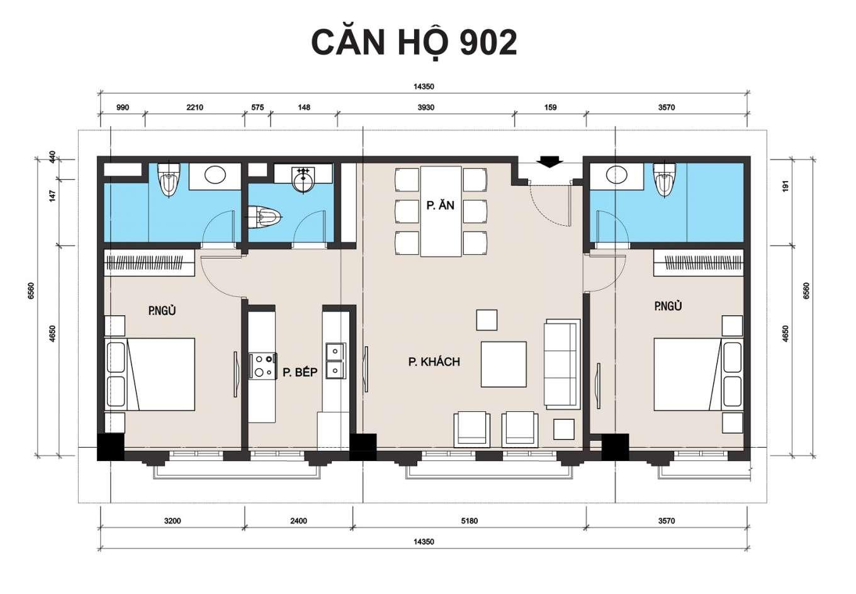 thiết kế chung cư t place căn 902