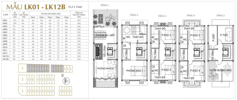 thiết kế liền kề sunshine mystery villas