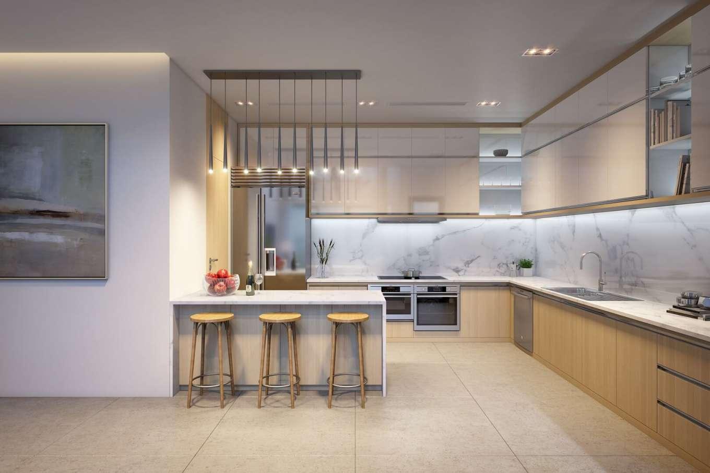 phòng bếp căn hộ duplex