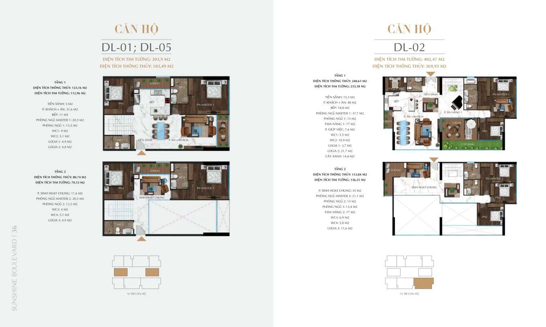 thiết kế căn hộ duplex sunshine boulevard