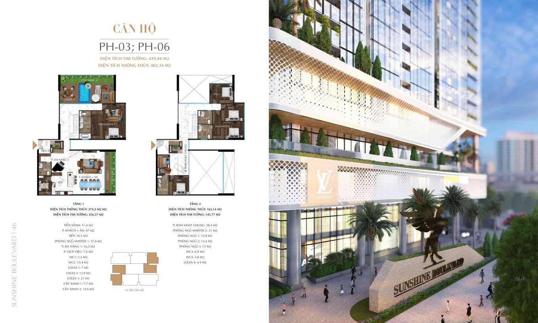 thiết kế penthouse sunshine boulevard