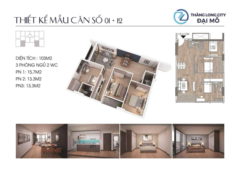 thiết kế căn hộ chung cư tlc tower