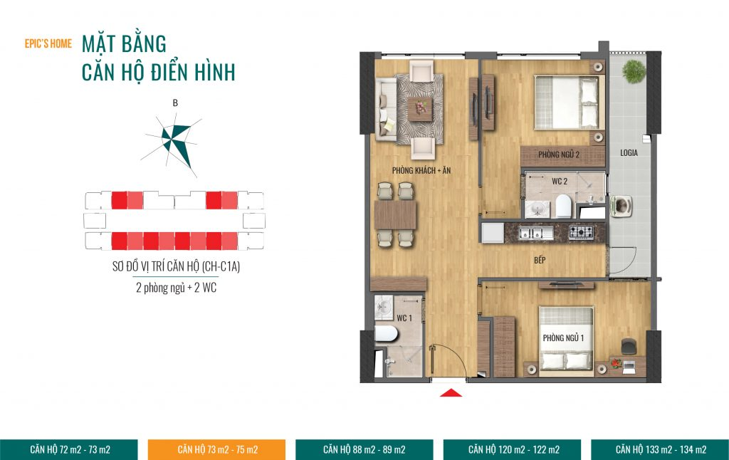 thiết kế căn hộ epic home
