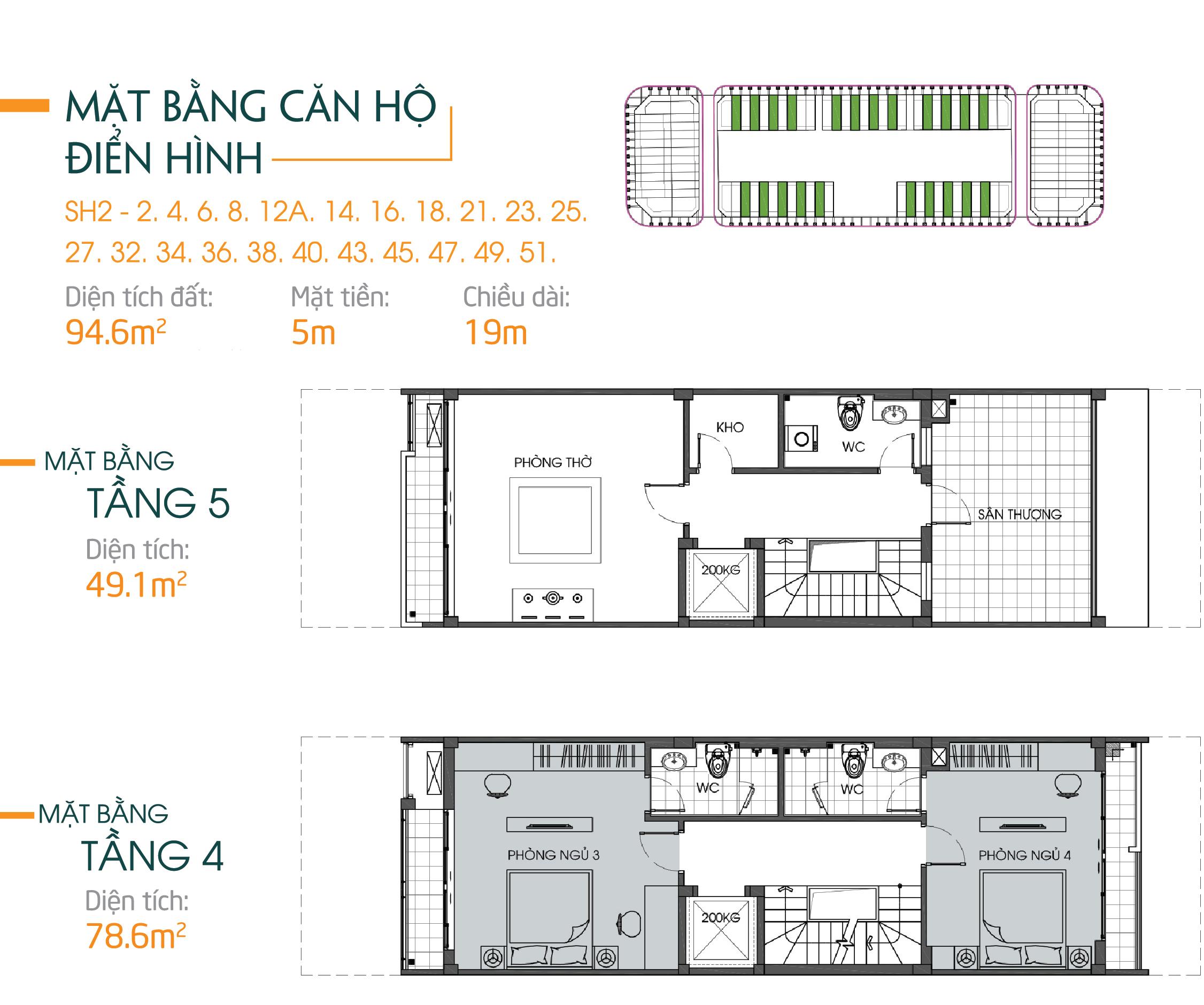 thiết kế shophouse bình minh garden 93 đức giang