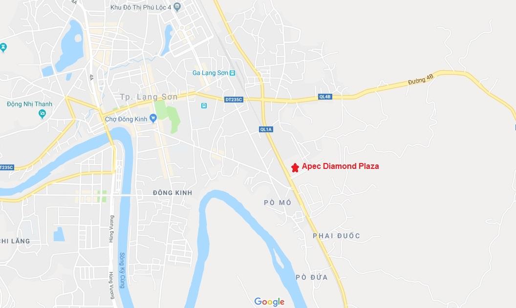 vị trí dự án apec diamond plaza