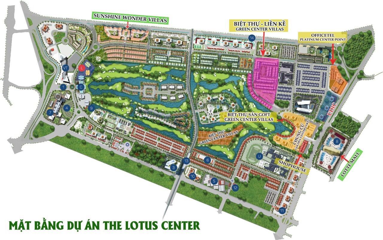 vị trí green center villas
