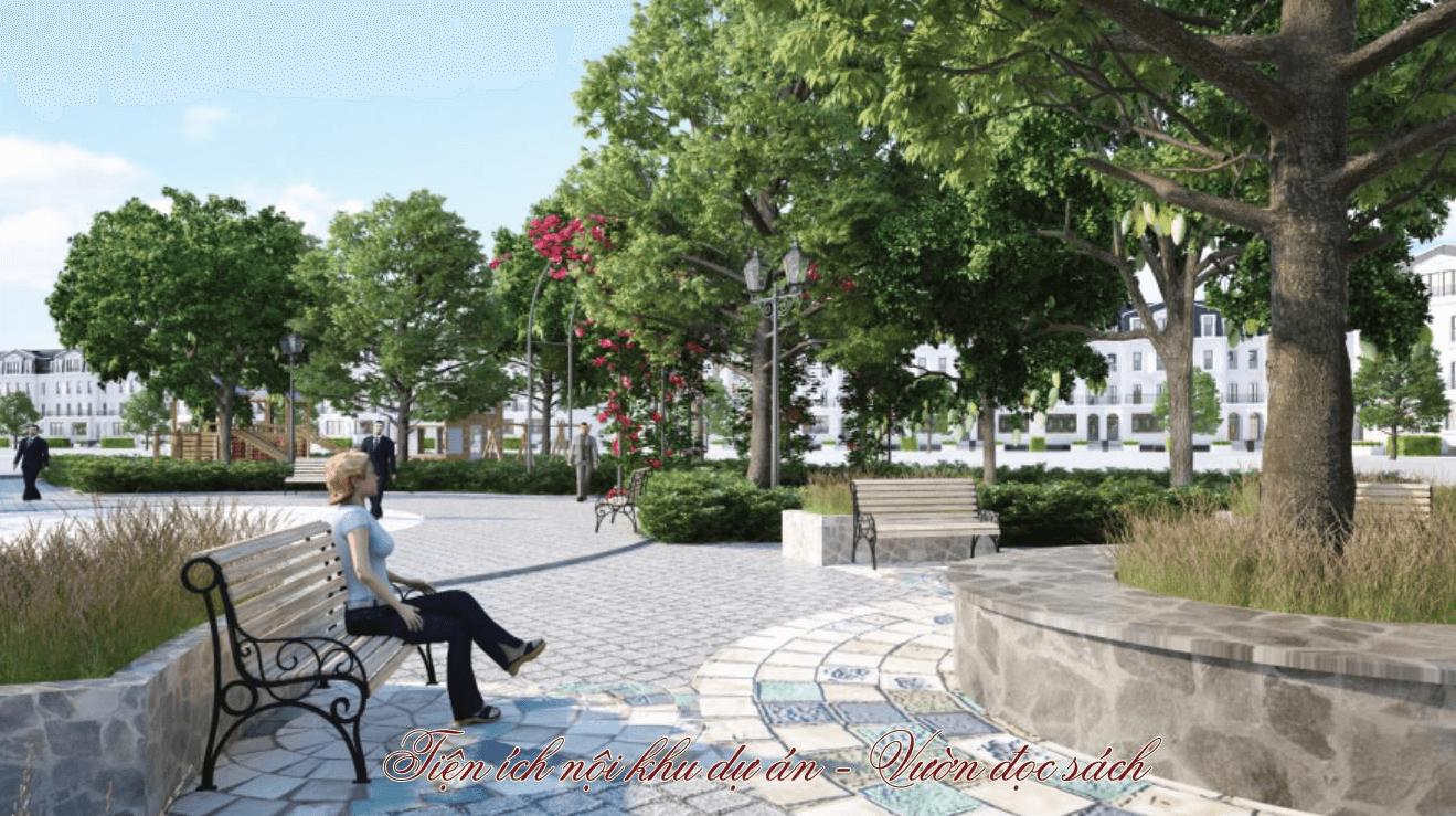 vườn đọc sách green center villas